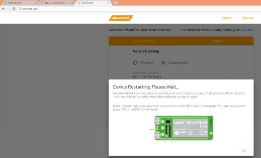 Linkit Smart Network rebooting.png
