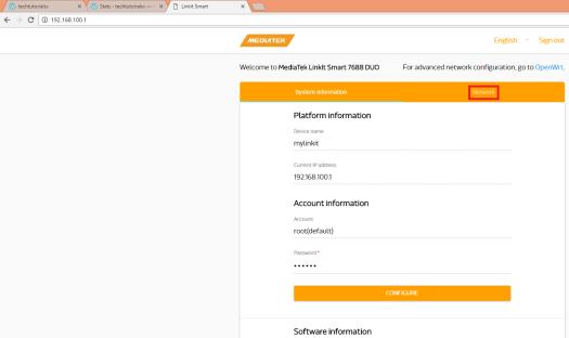 linkit-smart-web-ui-configuration-page