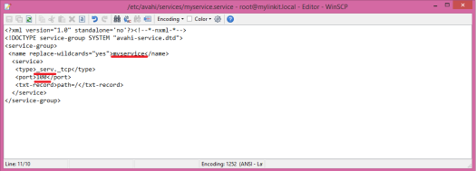 Linkit Smart avahi config file for new service.png