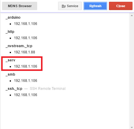 Linkit Smart new service mdns browser.png