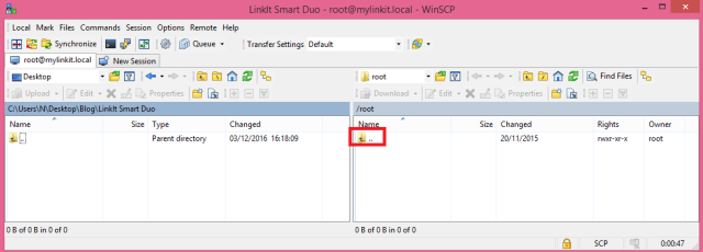 LinkIt Smart WinSCP root directory.png