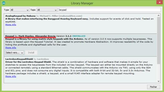 Arduino Keypad Library