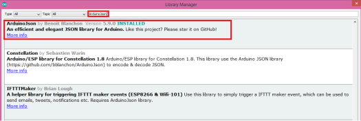 ArduinoJson library v5.9.0