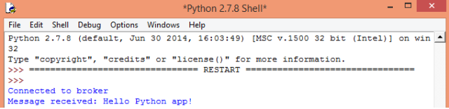 Python receiving message from MQTT topic