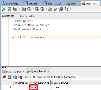 sql developer executing queries in different transactions
