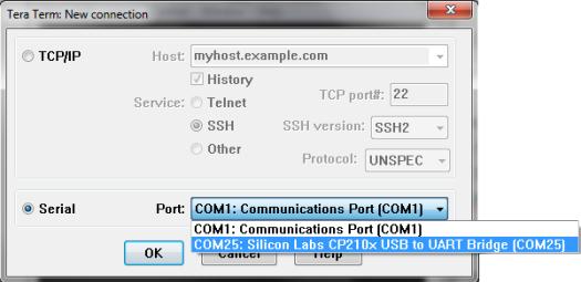 Tera Term ESP8266 Serial Connection