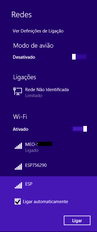 WiFi Bee AT command created network
