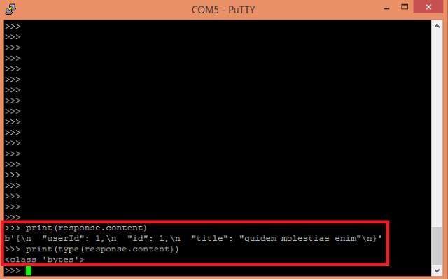 ESP32 ESP8266 MicroPython HTTP GET Answer Bytes