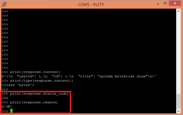 ESP32 ESP8266 MicroPython urequests status code