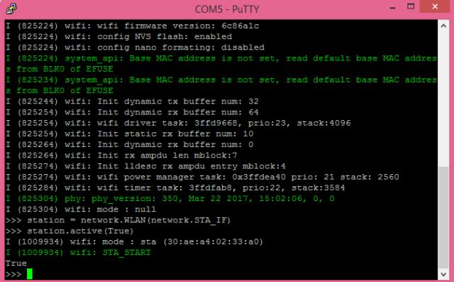 ESP32 MicroPython activating station mode