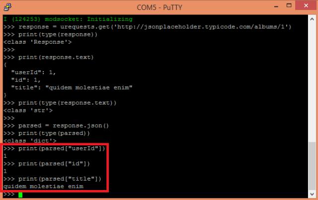 ESP8266 ESP32 MicroPython HTTP GET JSON dictionary