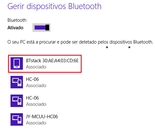 ESP32 Bluetooth being detected by Windows 8