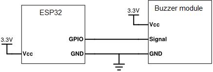 ESP32 buzzer diragram