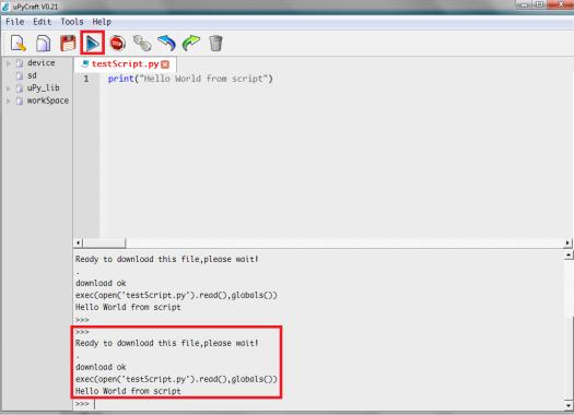 ESP32 uPyCraft upload and execute MicroPython script file.png