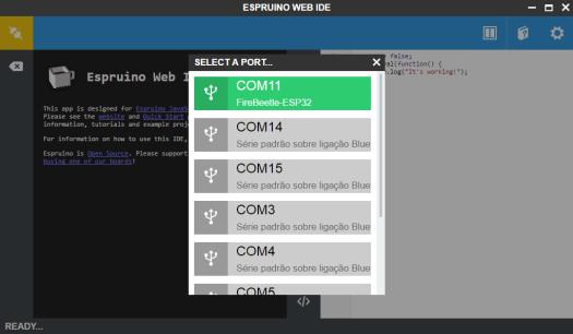 Espruino IDE selecting COM port.png
