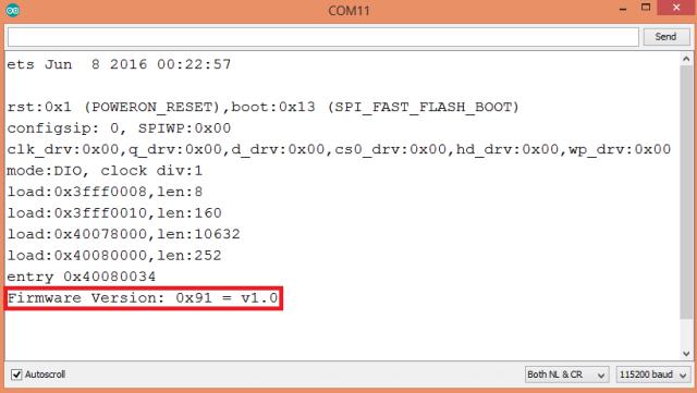 ESP32 RFID MFRC522 firmware version