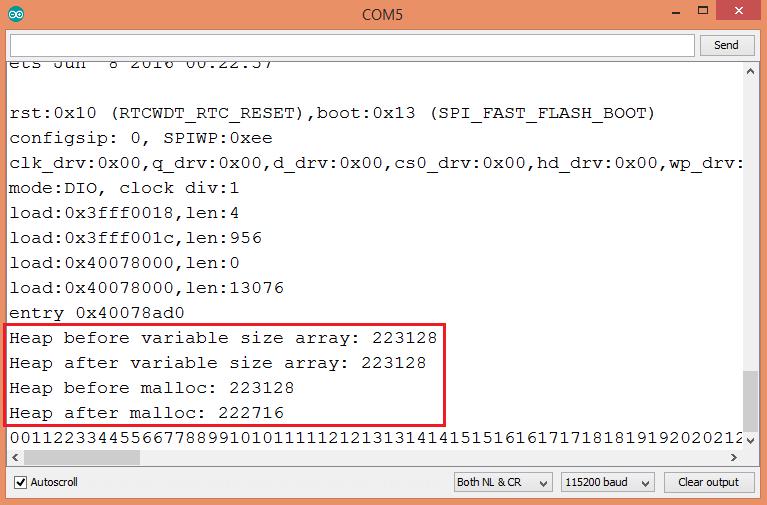 Esp arduino variable length arrays techtutorialsx