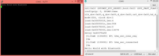 ESP32 Arduino Bluetooth Serial receiving data