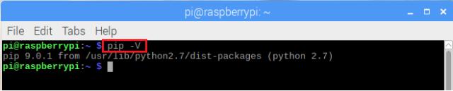 Raspberry Pi Check pip version.png