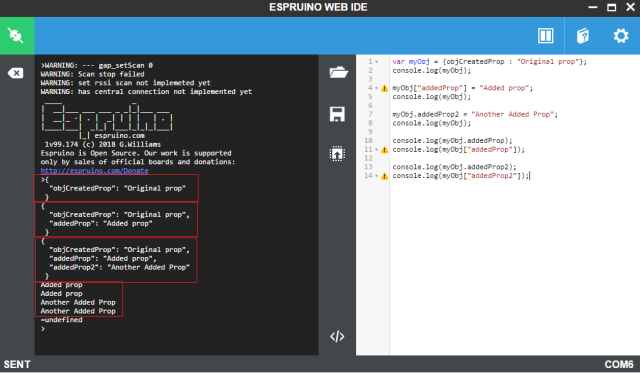 ESP32 JavaScript Espruino Add properties to created objects.png