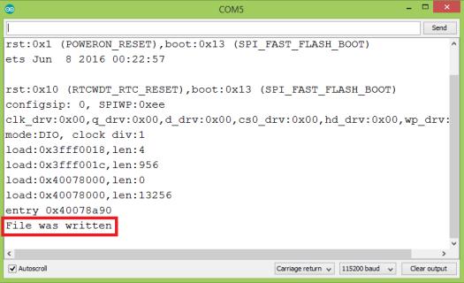 ESP32 Arduino Tutorial SPIFFS:4  Writing a file | DFRobot
