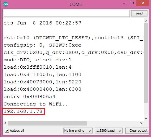 ESP32 Print local IP address to serial